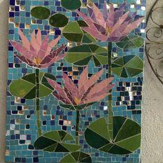 Mosaic mural lilies