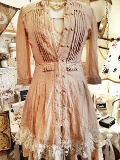 GYPSY PLANTATION:Women's lagenlook mori girl  gypsy prairie country western tunic/dress/shirt size XS - SM 2 -8 via Etsy
