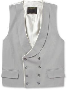 Favourbrook Shawl-Collar Cotton-Twill Waistcoat sur shopstyle.fr