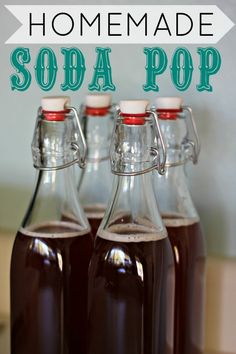 Homemade Soda pop! .... and it is healthy !!! YAY !!!