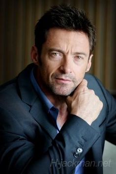 Hugh Jackman.  Looks like he's aging, or maybe sleep-deprived.  But still a gorgeous man.