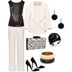 """Black and White"" by bonnaroosky on Polyvore"