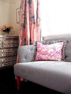 classic striped sofa