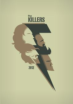 The Killers Battle Born Bolt Art Prints by TorsoVertical, The Killers, Brandon Flowers, Band Posters, Weird World, My Favorite Music, Rock Art, Cool Bands, Rock N Roll, Good Music