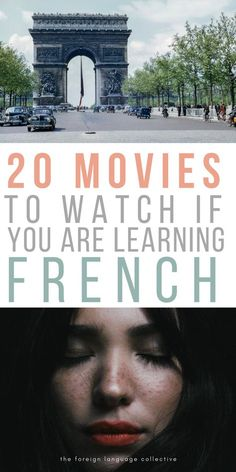 Are you learning French and looking for French movies to watch? These 20 are a great start to improving your French language skills French Language Lessons, French Language Learning, French Lessons, Spanish Lessons, Spanish Class, French Phrases, French Words, Language Study, Learn A New Language