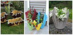 O combinatie din haine vechi, ciment si apa inseamna jardiniere de flori. Ciudat sau nu, iata cateva idei de obiecte decorative pentru gradina ta