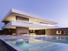 Casas modernas com piscinas home design , architecture , hou Beautiful Architecture, Contemporary Architecture, Contemporary Design, Residential Architecture, Interior Architecture, Luxury Interior, House Goals, Modern House Design, Luxury Modern House