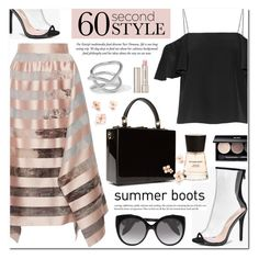 """""""60-Second Style: Asymmetric Skirts"""" by anyasdesigns ❤ liked on Polyvore featuring Fendi, Jennifer Fisher, Dolce&Gabbana, Boohoo, Alexander McQueen, Burberry, Edward Bess and By Terry"""