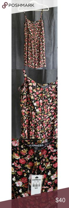 Express Floral Romper Pair this new floral romper with wedges and a denim jacket for a fun date night look! * This romper has pockets! Express Dresses Mini