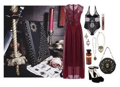 """""""Celestial Rose"""" by ghoulnextdoor ❤ liked on Polyvore featuring Rock Rebel, Jimmy Choo and Preciously"""