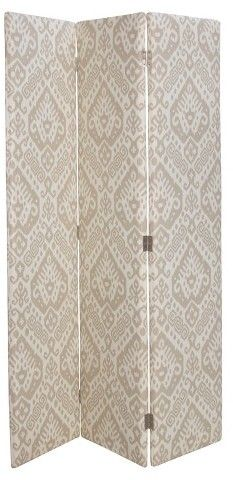 Charming and decorative divider screen looks pretty behind a bed or has a softening effect in the corner of a home office, Skyline Furniture Avery Upholstered Screen - Skyline Furniture®