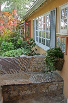 Flagstone bench