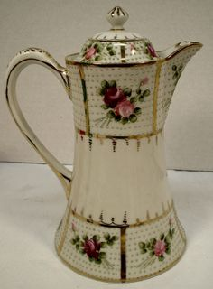 Early 1900s Hand Painted Nippon Chocolate Tea Pot