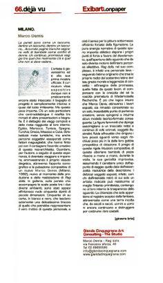 Rassegna Stampa: Ginevra Bria per Exibart on Paper.