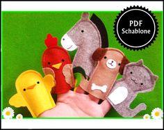 Dies ist eine PDF - Ebook-Datei, um im Handumdrehen sich selbst diese bezaubernden Fingerpuppen zu nähen. Bauernhoftiere: Esel, Hund, Katze, Hahn, Kücken Inhalt: - Materialliste - farbige...