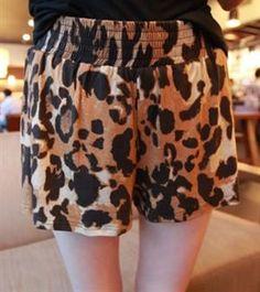 Korean Fashion Wild Leopard Cotton Culottes