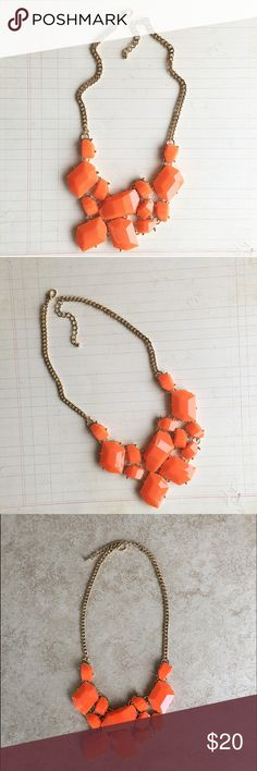 Chunky necklace Citrus orange chunky statement necklace HWL Boutique Jewelry Necklaces