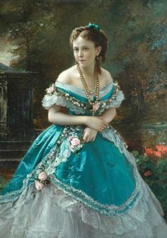 """Mrs Butterfield"", Roberto Bompiani, Bradford Museums and Galleries - Historical Dresses Victorian Gown, Victorian Art, Victorian Fashion, Vintage Fashion, Steampunk Fashion, Gothic Fashion, Style Fashion, Fashion Tips, Historical Art"