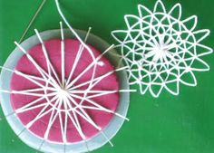 Entre Linhas e Tecidos: Nhanduti Needle Lace, Bobbin Lace, Ribbon Embroidery, Cross Stitch Embroidery, Dorset Buttons, Teneriffe, Peg Loom, Loom Knitting Projects, Hairpin Lace