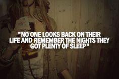We don't sleep here.