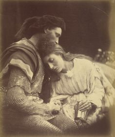 """Julia Margaret Cameron.- """"Parting of Sir Lancelot and Queen Guinevere"""" (1874)"""