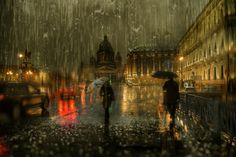 jedavu:  Cityscape Photography by Eduard Gordeev Eduard Gordeev is a talented photographer based in St. Petersburg, Russia who captured a series of artistic photos of rainy cityscape. The resulting images are atmospheric and impressive with a bit of effect of acrylic paintings. The urban streets seem drenched in rain and mystery.