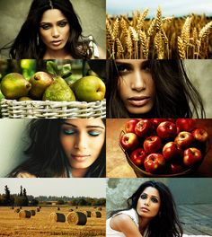 If the Months had Faces - August by ~checkers007 on deviantART - Freida Pinto