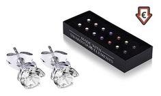 Coffrets de 7 paires de boucles d'oreilles ornées de cristaux Swarovski® pour changer de couleur au gré des envies, au quotidien