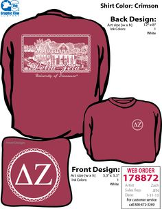 Delta Zeta house Sweatshirt. U. of Tennessee
