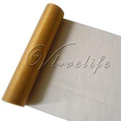 Gold Sheer Organza 5mx29cm £1.79  http://www.ebay.co.uk/itm/5m-x-29cm-Sheer-Organza-Roll-Wedding-Chair-Sash-Bow-Table-Runner-Swag-Decoration-/271039647755?pt=UK_Home_Garden_Celebrations_Occasions_ET&var=&hash=item3f1b38d00b