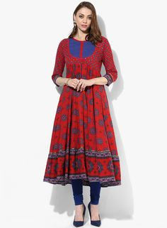 Buy Sangria 3/4Th Sleeves Anarkali With Piping Insert And Couching At Yoke for Women Online India, Best Prices, Reviews | SA038WA49FNEINDFAS