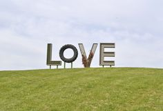 Virginia is for Lovers LOVEwork at Airlie, made of 95% recycled materials