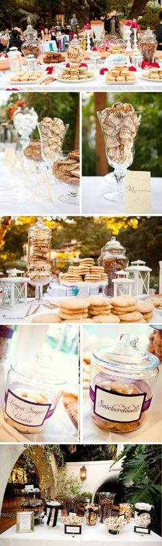 Rustic country wedding food ideas - milk and cookies wedding bar /  /http://www.deerpearlflowers.com/wedding-smore-cookies-milk-bar-ideas/