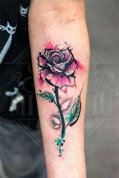 Luxuriöse schöne Aquarell Tattoo Ideen z. Frauen - Tattoos - Luxuriöse schöne Aquarell Tattoo Ideen z. Sexy Tattoos, Cute Tattoos, Beautiful Tattoos, Body Art Tattoos, Tattoos For Guys, Dainty Tattoos, Feminine Tattoos, Foot Tattoos, Flower Tattoos