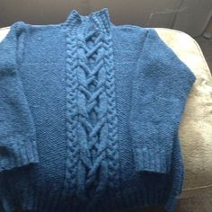 Jumper for my husband from a rowan pattern.