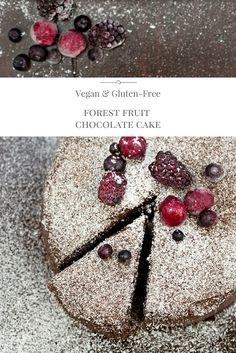 Vegan and gluten free forest fruit chocolate cake made with buckwheat flour. #vegan #glutenfree #baking #chocolate
