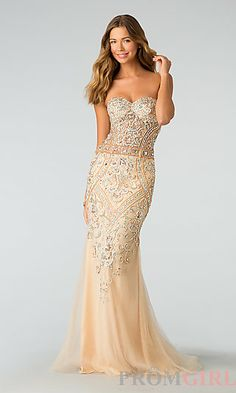 Elegant Beaded Evening Gown by Atria at PromGirl.com