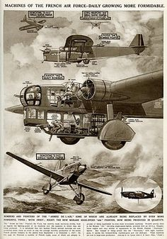 Machines of the French Air Force at the start of the Second World War, daily growing more formidable. Bombers and fighters of the Armee de l'Air; inset is a photograph of the new Morane high-speed 406 fighter. Pin by Paolo Marzioli