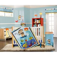 Crib Fashion Bedding > Carter's® Laguna Monkey 4-Piece Crib Bedding Set from Buy Buy Baby