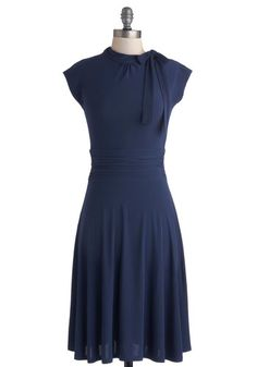 Dance Floor Date Dress in Blue, #ModCloth No lace. dark color. but I liked the look of it a lot. I don't think Jenn adn Kate will like it though. But just in case $57.99