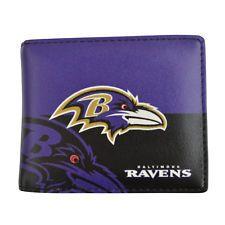 Brand New NFL Baltimore Ravens Men Women Synthetic Leather Bi-Fold Wallet