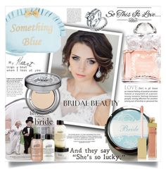 """Bridal Beauty -  Join the contest! See description"" by danielle-broekhuizen ❤ liked on Polyvore featuring beauty, Guerlain, Betsey Johnson, philosophy, Urban Decay, AERIN and Bling Jewelry"