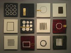 Twelve Square Grouping: Lori Katz: Ceramic Wall Art - Artful Home