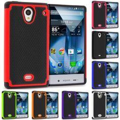 For Sharp AQUOS Crystal Hybrid Shockproof Armor Rugged Hard Case Cover Accessory - $4.95 (save 38%) #ebay #unbrandedgeneric #covers #cases