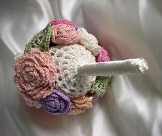 Custom stylish Crochet wedding bouquet ideas (5)