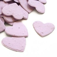 Perfect plantable seed confetti for an eco-friendly wedding or to use as eco-friendly baby shower favors. When thrown outside the heart shaped plantable seed confetti will grow into wildflowers. It's eco-friendly, fun and so memorable!    http://www.squidoo.com/garden-wedding-theme-favors-and-decoration-ideas?utm_source=google_medium=imgres_campaign=framebuster