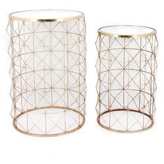 Two Piece Metal Side Table Set With Mirrored Top (4.510 RUB) ❤ liked on Polyvore featuring home, furniture, tables, accent tables, metal furniture, metal lamp table, metal table, metal occasional tables and metal side table