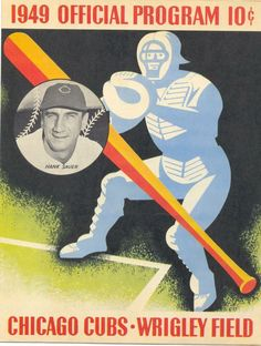 1949 official chicago cubs program. wrigley field. baseball