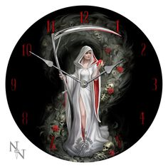 Life blood - Horloge gothique reaper - Anne Stokes boutique