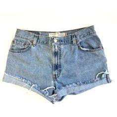 Vintage High Waisted Shorts vintage Levis Shorts Levi Shorts Size 10... (95 BRL) ❤ liked on Polyvore featuring shorts, bottoms, high-rise shorts, denim cutoff shorts, frayed denim shorts, cut off shorts and high-waisted shorts